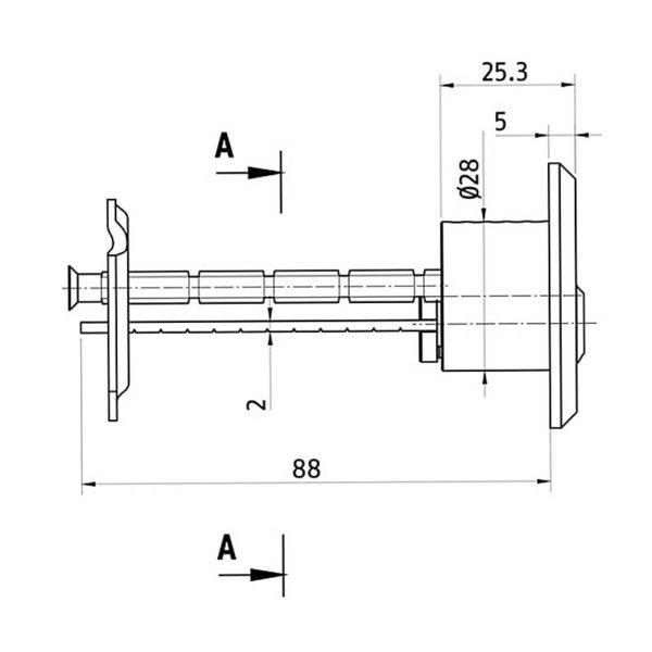 ABUS Außenzylinder Querschnitt Aufriss Maße