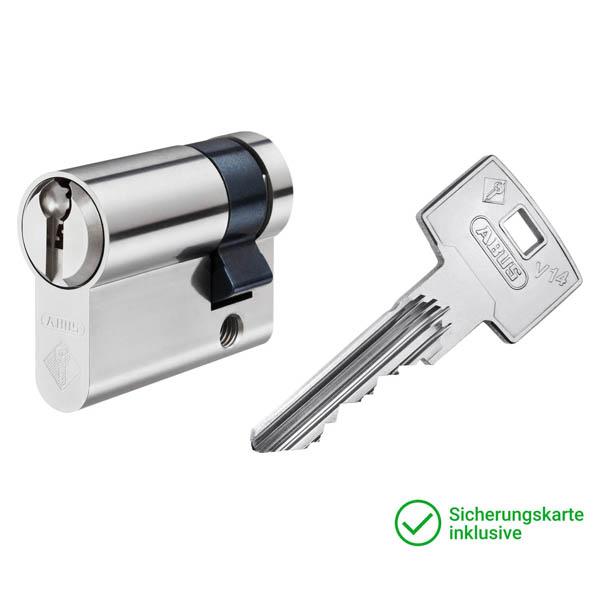 ABUS V14 Halbzylinder mit Schlüssel Schließzylinder für Schließanlagen + Gleichschließungen