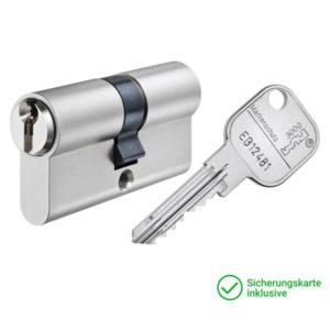 GERA 3000 Doppelzylinder mit Schlüssel Schließzylinder für Schließanlagen + Gleichschließungen