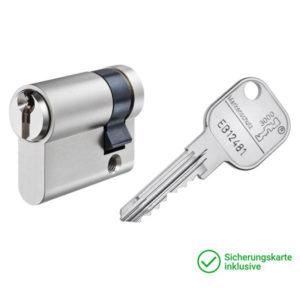 GERA 3000 Halbzylinder mit Schlüssel Schließzylinder für Schließanlagen + Gleichschließungen