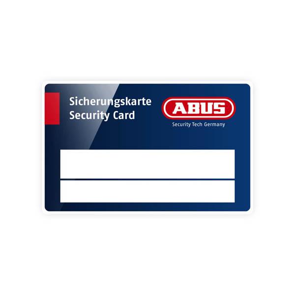 ABUS Sicherungskarte Schließzylinder für Schließanlagen + Gleichschließungen