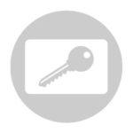 Schließanlagen Schließzylinder Sicherungskarte Icon